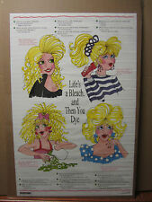 Vintage 1992 Life's a bleach, and then you dye blonde jokes poster 985