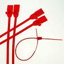 (5)Red 320mm Plastic Lead Ribbon/Seal Used for Tanker Semi-Truck Trailer Doors