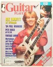 GUITAR PLAYER MAGAZINE RIK EMMETT TRIUMPH PETE BUCK JEFF BERLIN ARLEN ROTH RARE!