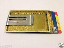 Acero Inoxidable Money Clip De Doble Cara Caja nota de crédito tarjeta titular Thin Nuevas!