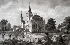Schloss Zator, Zamek w Zatorze Original-Stahlstich 1840 POLOGNE Poland