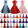 Womens Vintage Hepburn 50s 60s Rockabilly Dress Pinup Party Cocktail Swing Dress