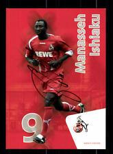 Manasseh ishiaku AUTOGRAFO carta 1 FC Köln 2009-10 orignal FIRMATO + a 160294