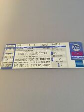 Unbenutzte Ticket kroq Almost Acoustic Xmas 1999 Foo Fighters/Blink 182/Beck & mehr!