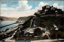Sankt Goar Hunsrück ~1910 Ruine Rheinfels Burg Burgruine Festung Panorama Rhein