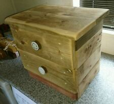 Handmade Wooden Bedside Tables & Cabinets with 2 Drawers