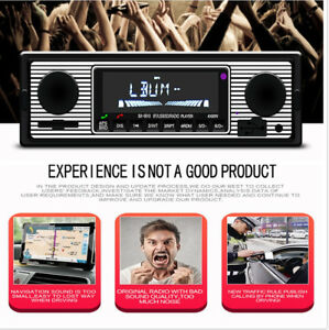 Built-in Bluetooth + microphone Hands-free Calls Car In-dash FM Radio MP3 Player