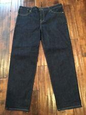 """Raleigh Denim """"Organic"""" Dark Wash Slim Fit Ankle Crop Jeans, Size 33"""
