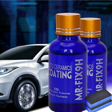 2x 9H Nano Ceramic Car Glass Coating Liquid Hydrophobic AntiScratch Auto Care