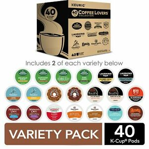 Keurig Coffee Lovers' Collection Sampler Pack, Single-Serve K-Cup Pods, 40 Count