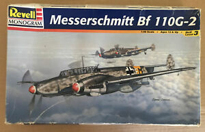 1/48 Revell Monogram Messerschmitt Bf 110G-2 Box Rough Parts Sealed kit 85-5839