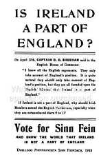 Sinn Féin, vintage Irish 1918 political  , Poster, Wall art, Reproduction