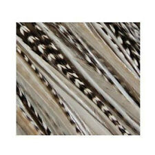 7-11 Inch Zebra Black White 100% Real Hair 5 Feather Extensions bonded the tip