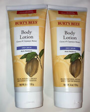 Burt's Bees Cocoa + Cupuacu Butters Body Lotion for Dry Skin, 6oz Each -TWO PACK