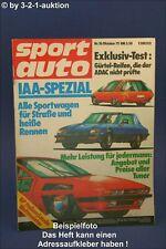 Sport Auto 10/75 Bitter CD Tvr 3000 M VW Golf Gti Carosserie Baur Iaa 1975