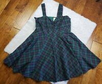 ModCloth Plaid Tartan Short Dress Retro Pin Up Sweetheart Lined Plus Size 1X