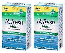 Refresh Tears Lubricant Eye Drops - SET OF (2) Twin Pack 0.5 fl oz, EX +07/2021