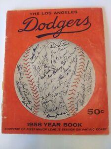 Vintage 1958 LOS ANGELES DODGERS YEARBOOK 1ST MAJOR LEAGUE SEASON ON PACIFIC