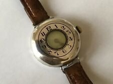 WW1 Silver Half Hunter Officers Trench Wristwatch with Screw Back, H/M 1916