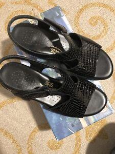 SAS Women's Suntimer Tripad Comfort Black Cros Sandals 1896-181 Size 8 Wide