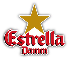"Estrella Damm Beer Drink Car Bumper Sticker Decal 5"" x 4"""
