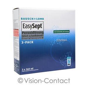 EasySept 3-Pack 3 x 360ml + 120ml Pflegemittel Peroxidlösung von Bausch + Lomb