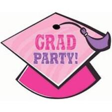 It's My Day Pink Congrats Grad Hat School College Graduation Party Invitations