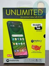 New & Factory Sealed Straight Talk Moto G7 Optimo 32GB 4G LTE