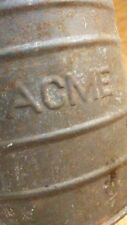 antique ACME primitive metal flour sifter