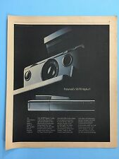 Polaroid Camera 77' SX-70 Alpha 1 Original 11X13.5 Print Publication Magazine Ad