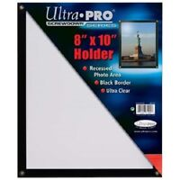 "ULTRA PRO BLACK FRAME 8""x10"" SCREWDOWN PHOTO HOLDER New Clear 8x10 Recessed"