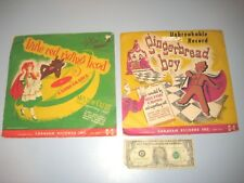 2 CARAVAN UNBREAKABLE RECORD OF THE GINGERBREAD BOY & LITTLE RED RIDING HOOD
