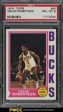 1974 Topps Basketball Oscar Robertson #55 PSA 8 NM-MT