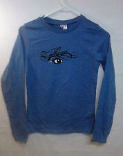 District Threads Women's Top Long Sleeved Shirt Blue Athena Size Small - B1