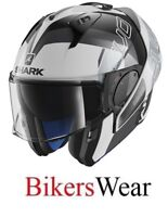 SHARK EVO-ONE 2 -Slasher WKS Flip Up modular Motorcycle Helmet with sun visor ZQ