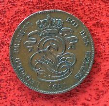 Belgique - Léopold Ier - Très Jolie   monnaie de 2 centimes 1861  avec point