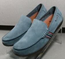 IDRIS BLUE MMMS70 Men's Shoes Size 9 EUR 8.5 Suede Slip On Mephisto