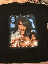 Vintage Aaliyah Rap Tee Gem Rock One In A Million Misprint Rare Xl