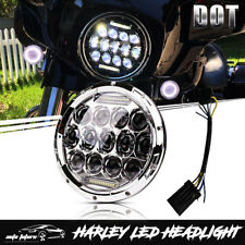 "7"" LED Daymaker Headlight For Kawasaki Vulcan VN 500 750 800 900 1500 1600 1700"
