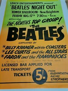 Beatles Night Out poster for Tower Ballroom, New Brighton Poster 51 x 74 cm