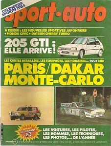 SPORT AUTO 264 1984 MONTE CARLO RAC RALLY PARIS DAKAR PORSCHE 911 4X4 CIVIC CRX