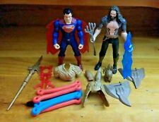 Justice League Movie Action Figures & Weapons Lot Superman Aquaman Batman (2014)