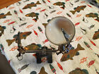 VINTAGE FLY FISHING TYING VISE TOOL WITH MAGNIFYING GLASS & ALLIGATOR CLIPS