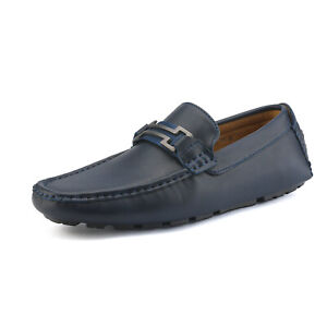 Mens Driving Casual Moccasins Leather Loafers Slip On Boat Penny Shoes Size 7-15