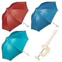 Clip On Screw Clamp Garden Parasol Sunshade Balcony Sun UV Protection Umbrella