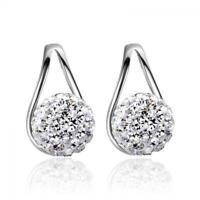 shambala des bijoux boule de cristal argenté boucles d'oreilles oreille étalon