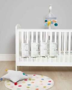 NEW Mamas and Papas Big Top Tales Neutral Cot / Cot bed Bumper Bar Covers x 8