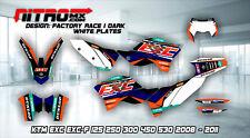 KTM Graphics Kit Decals Design Stickers EXC EXC-F 125 250 300 450 530 2008-2011