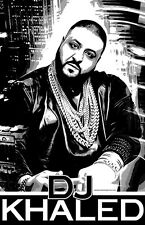 "DJ KHALED ""Black Light"" Poster"