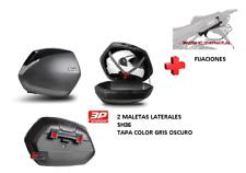 KIT SHAD fijacion + maletas laterales tapa negro metal SH36 SUZUKI SV650 (16-17)